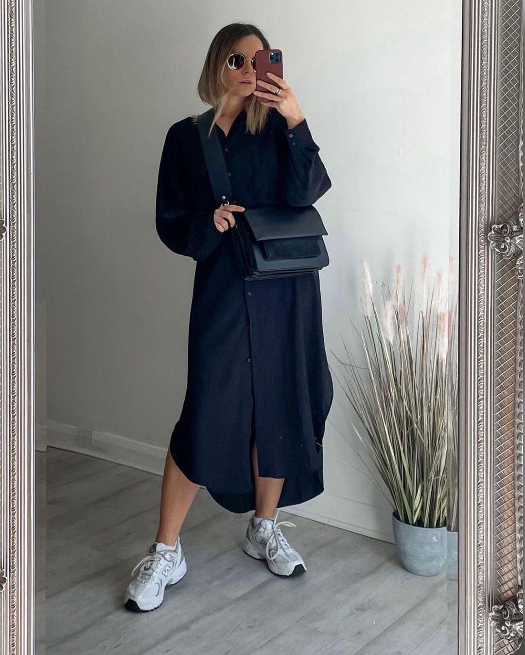 robe de longueur mi-mollet de H&M sur hm.addicted