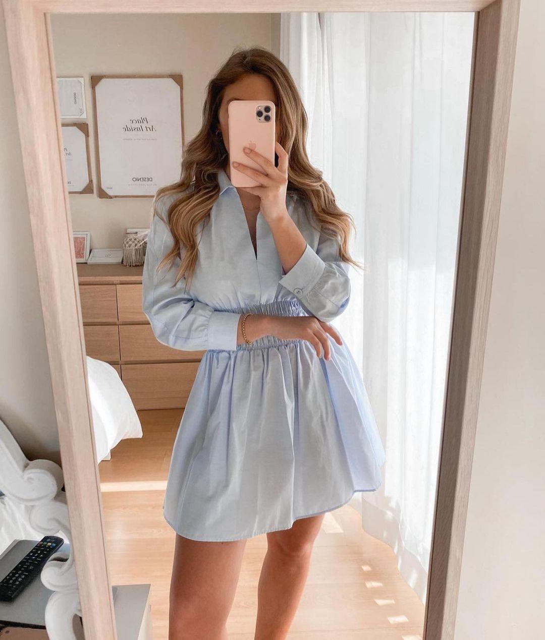 dress with elastic waist de Zara sur zaraaddiction