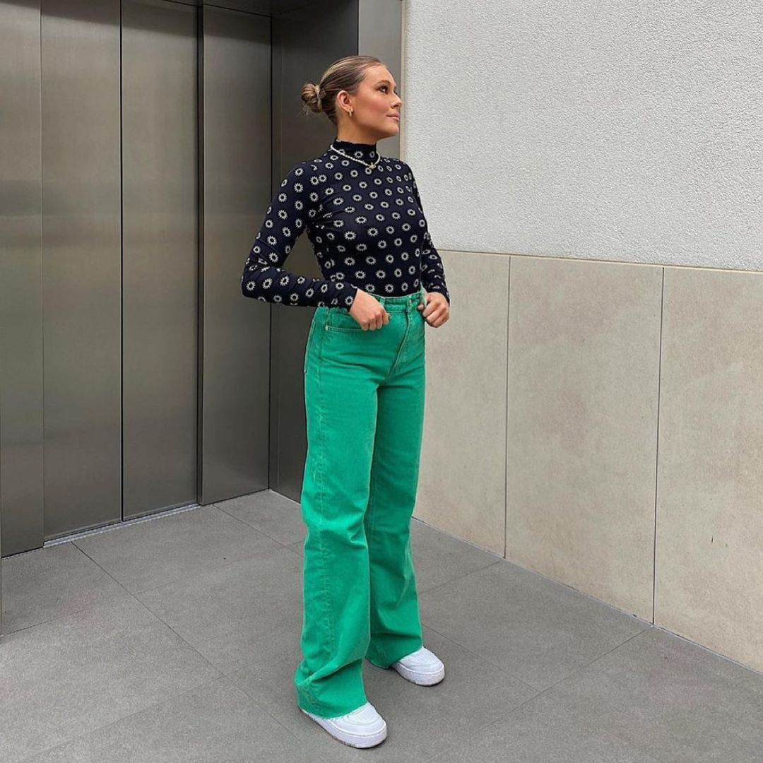color wide leg full length jeans de Zara sur zara.style.daily