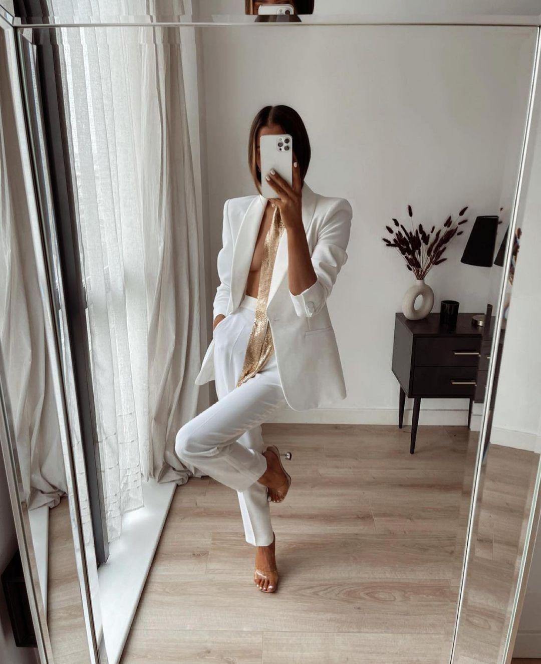 blazer de smoking à col à revers bimatière de Zara sur zara.outfits