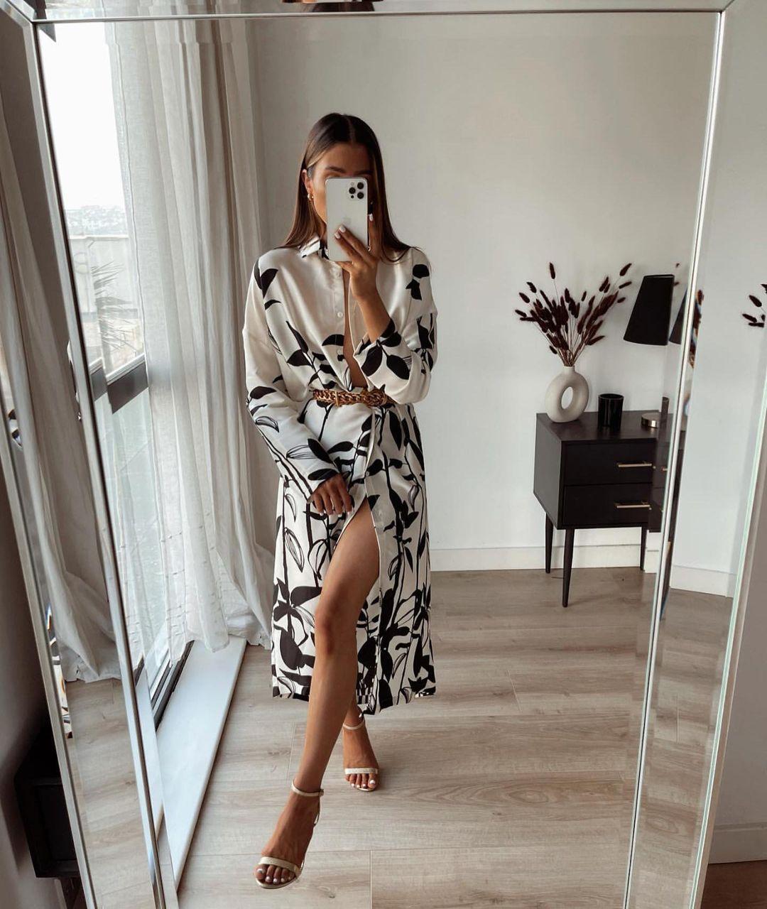 robe oversize imprimée de Zara sur zara.mania