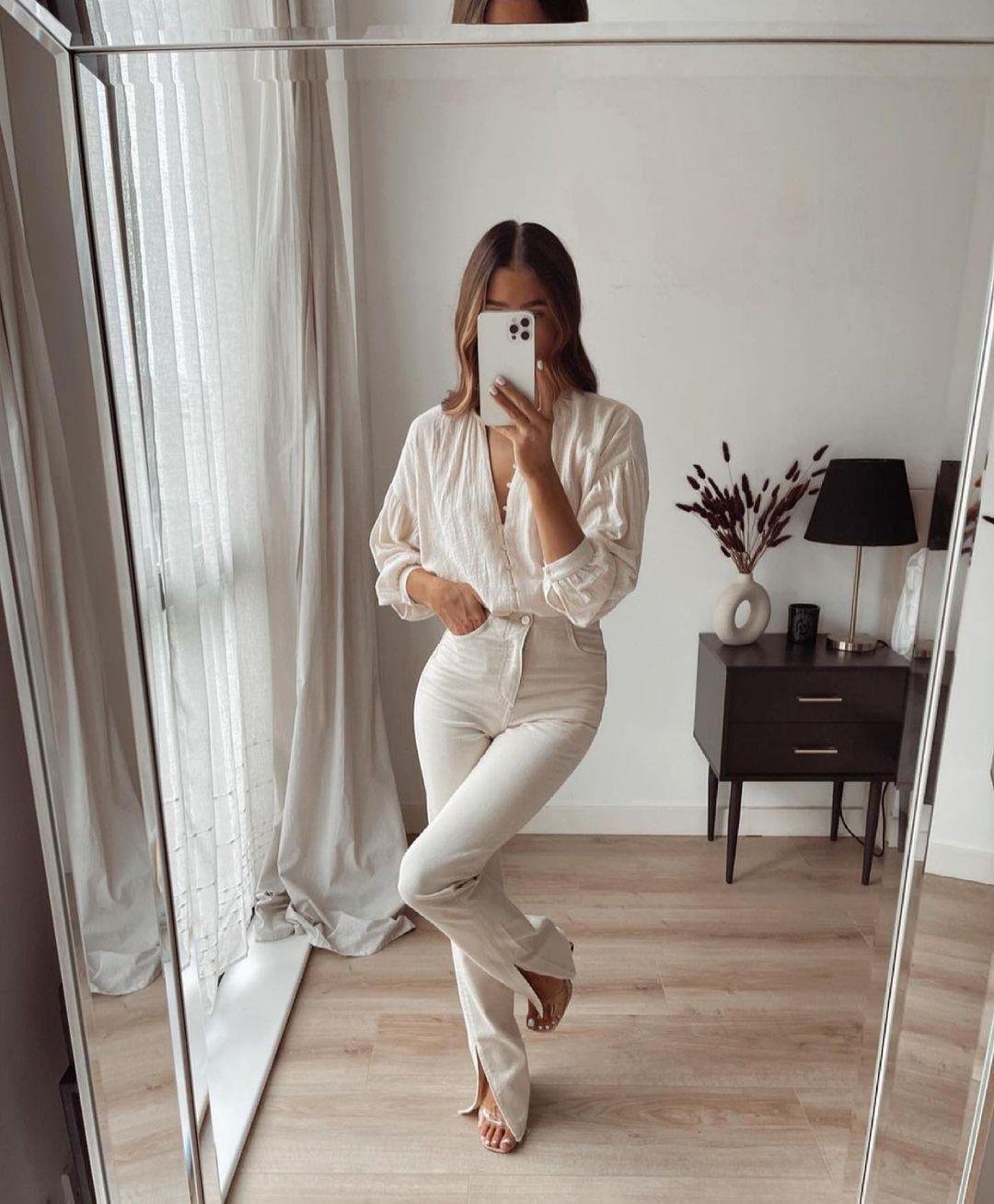 jeans z1975 high rise slim flare de Zara sur zara.outfits
