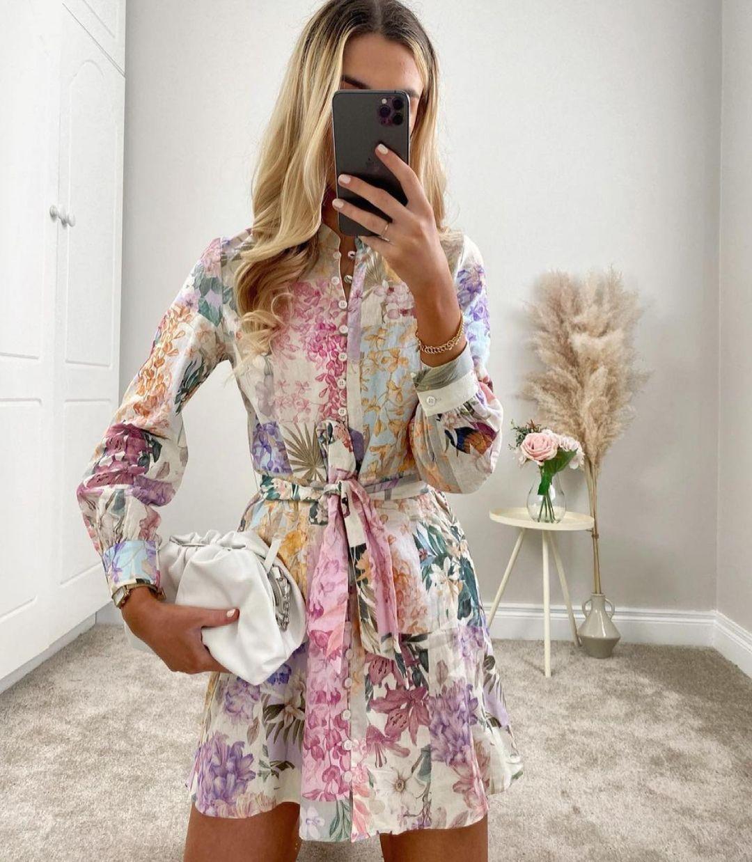 floral print dress de Zara sur zaraaddiction