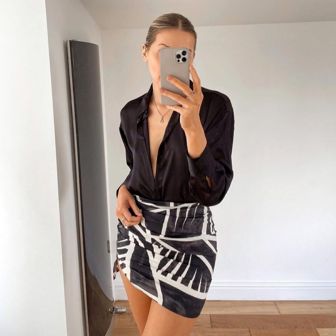 printed draped skirt de Zara sur zara.style.daily