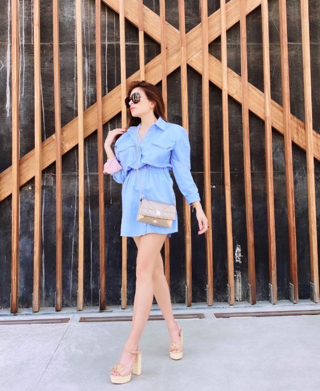 short shirt dress de Zara sur zarastreetstyle