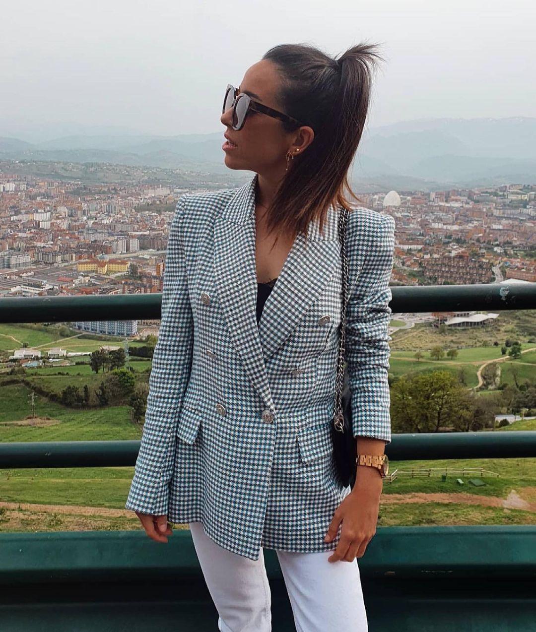 houndstooth jacket de Zara sur zaradiccion__