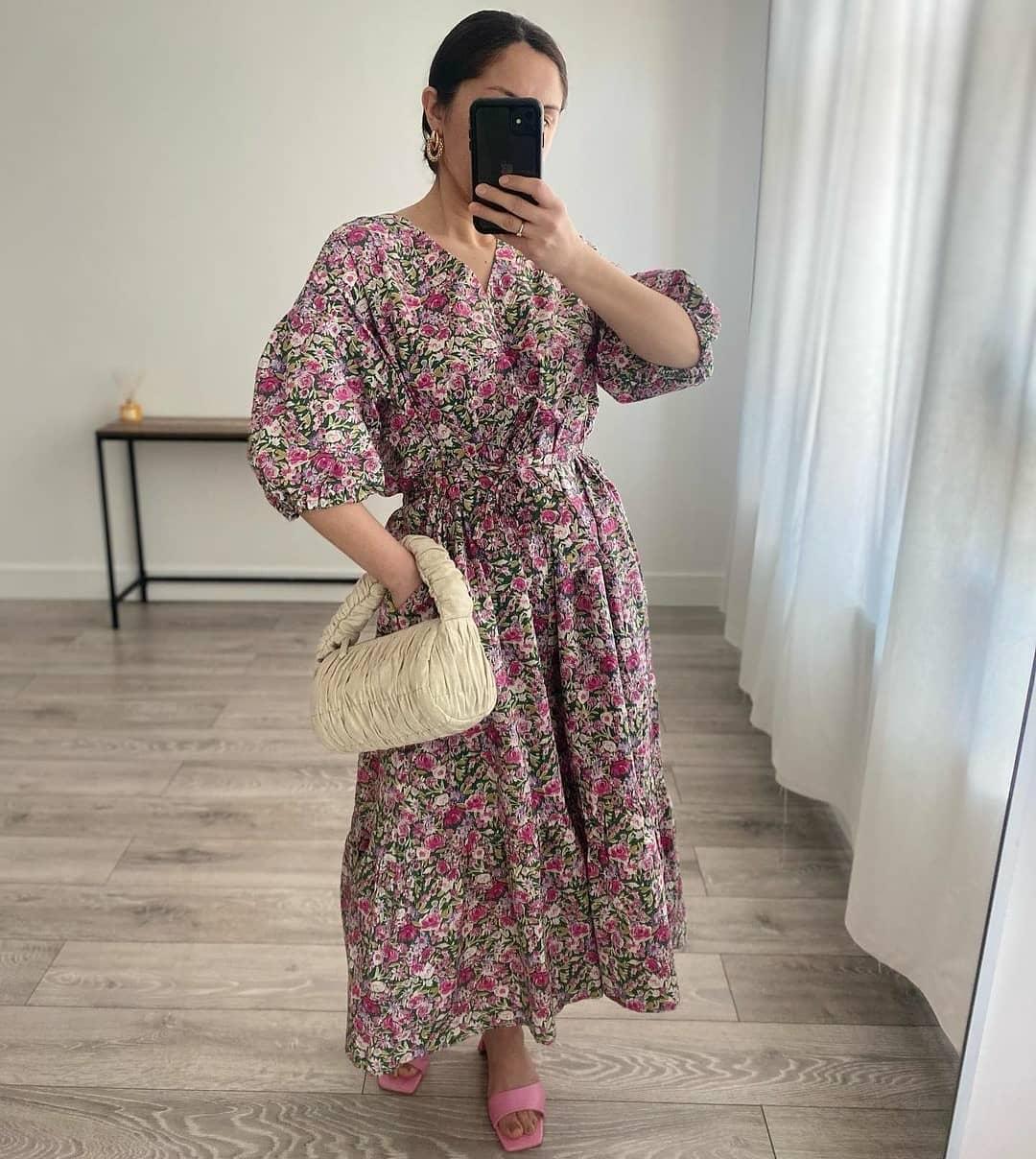 dress linda de Mango sur mangooutfits