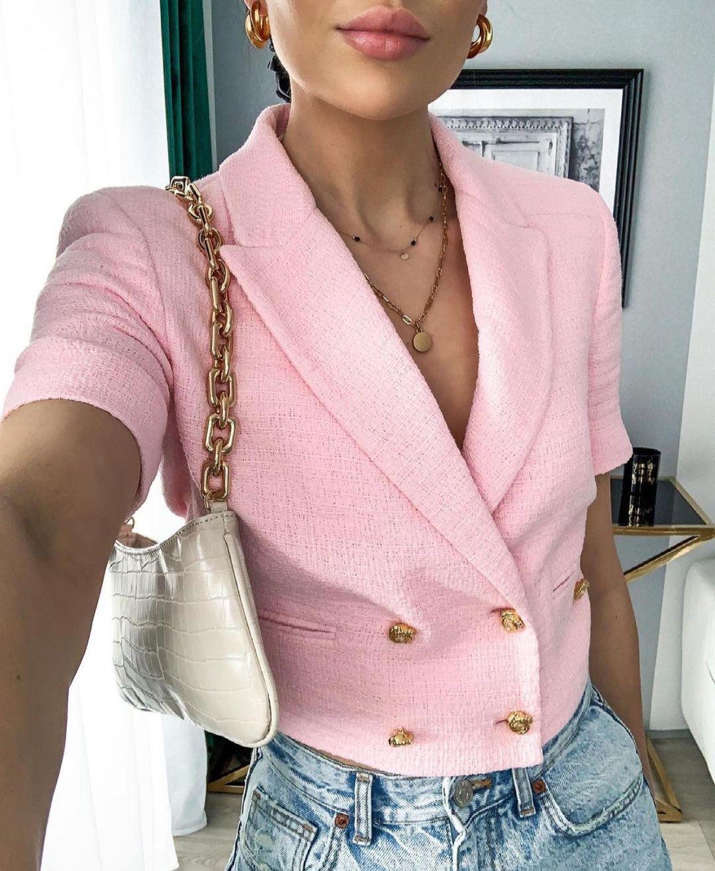 structured jacket with buttons de Zara sur zaraaddiction