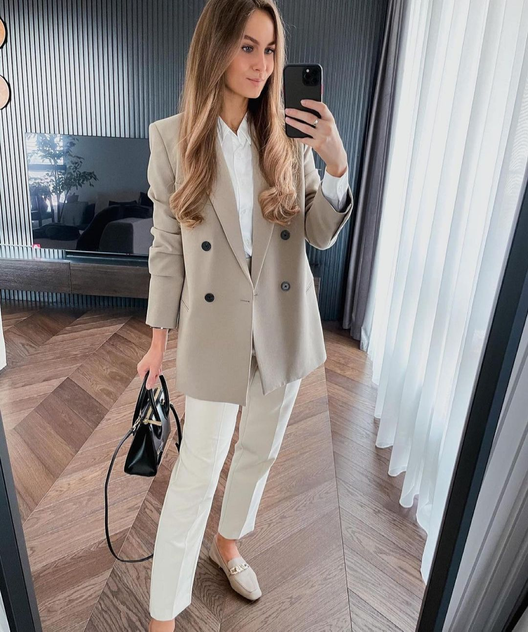 blazer à boutonnage croisé de Zara sur zara.outfits