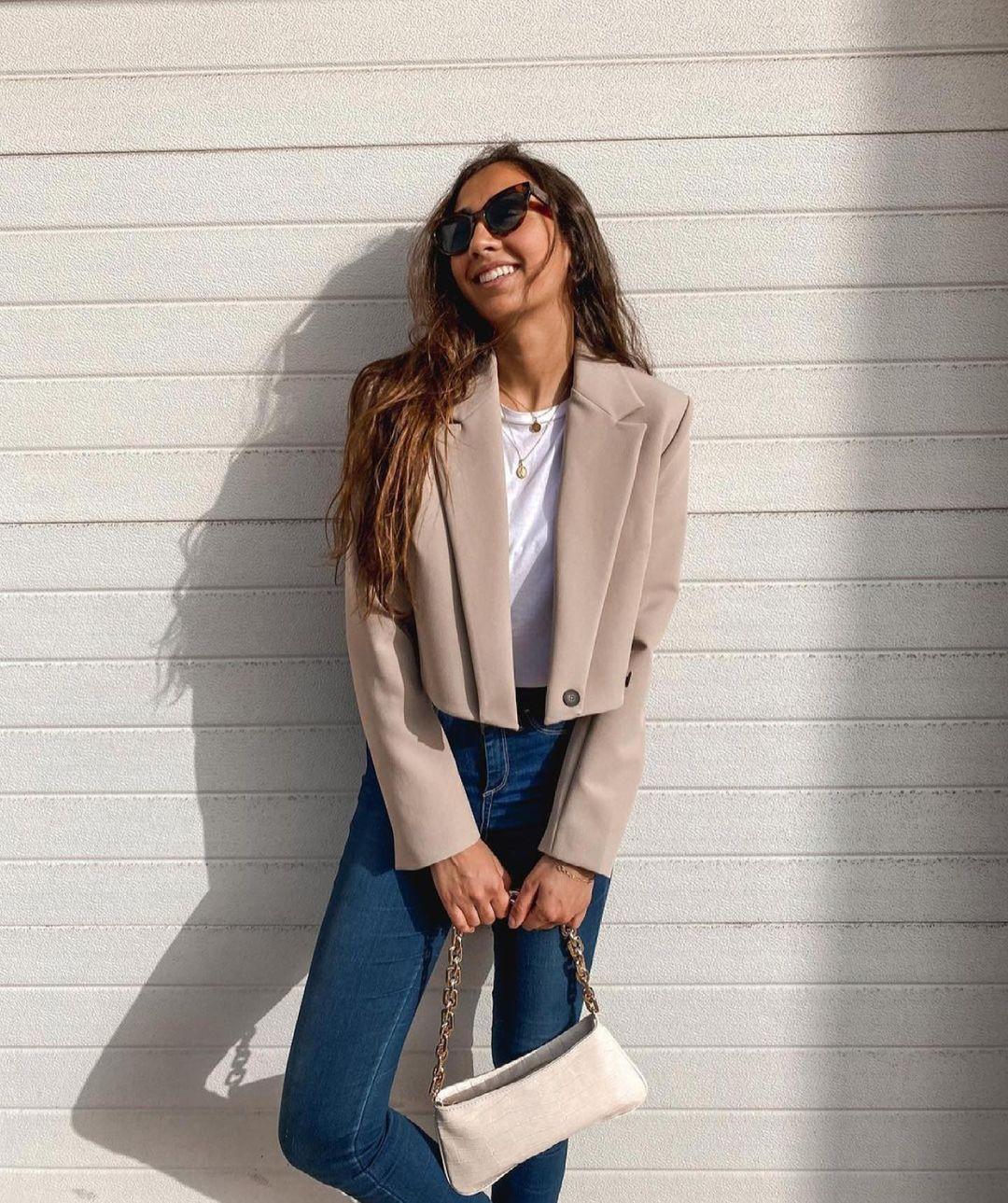 sac porté épaule à imprimé animalier et chaînes de Zara sur zara.outfits