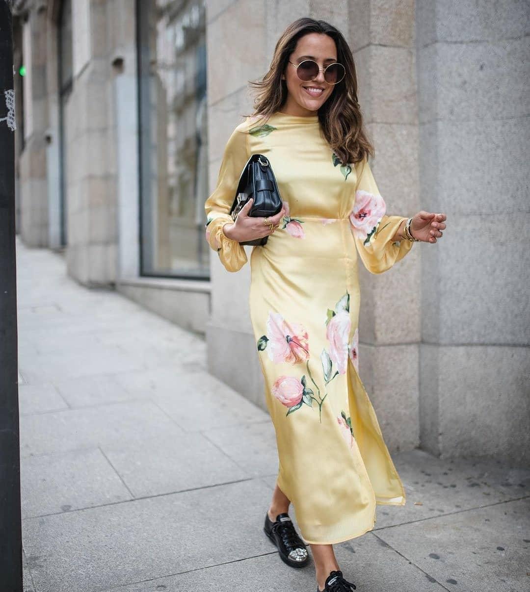 dress yellow-a de Mango sur mangooutfits