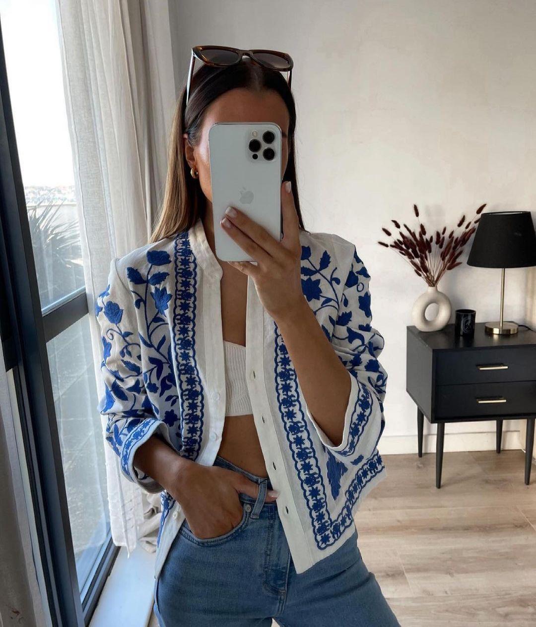 embroidered shirt de Zara sur zaraaddiction