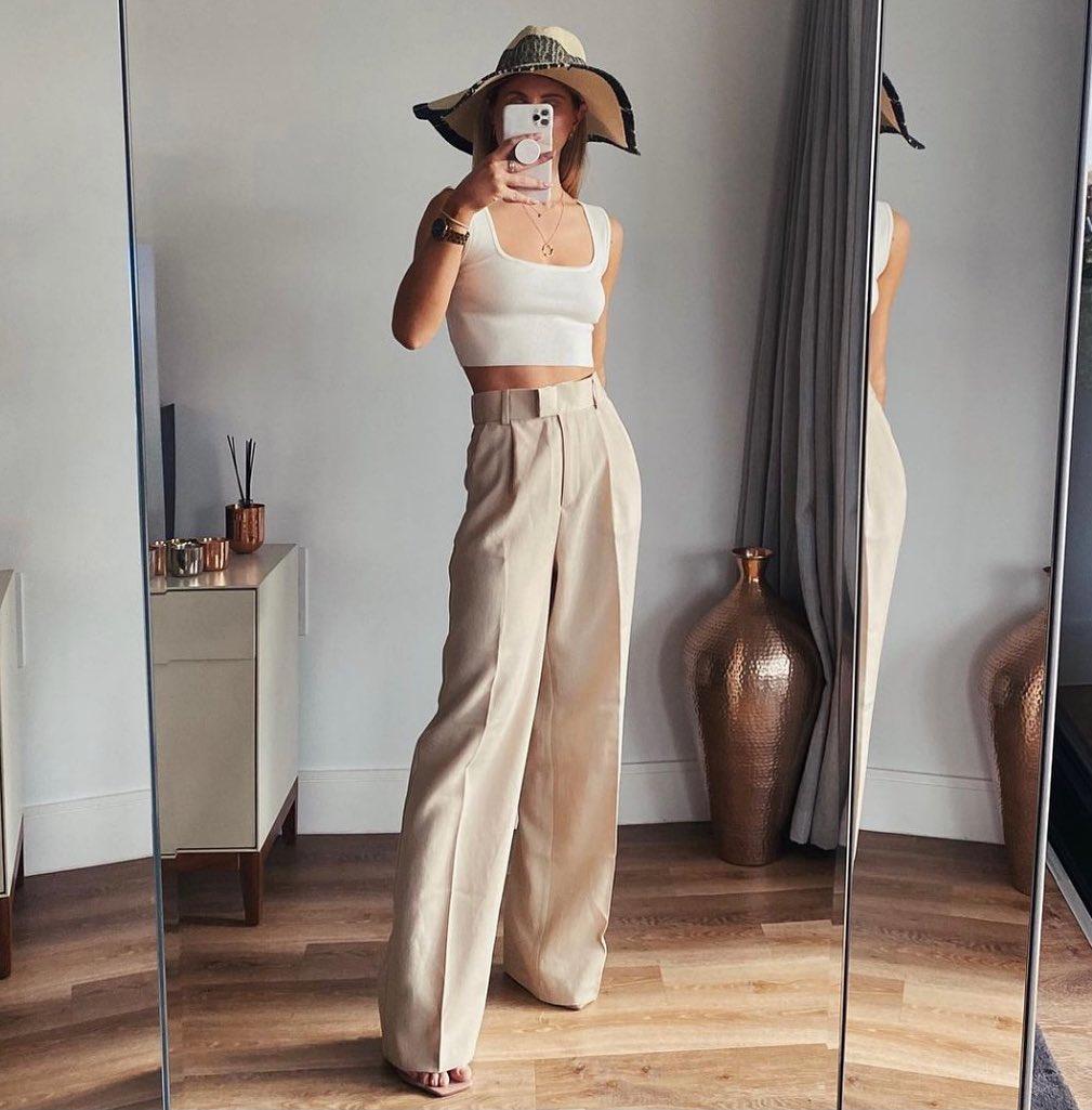 silk-blend palazzo trousers de H&M sur hm.addicted