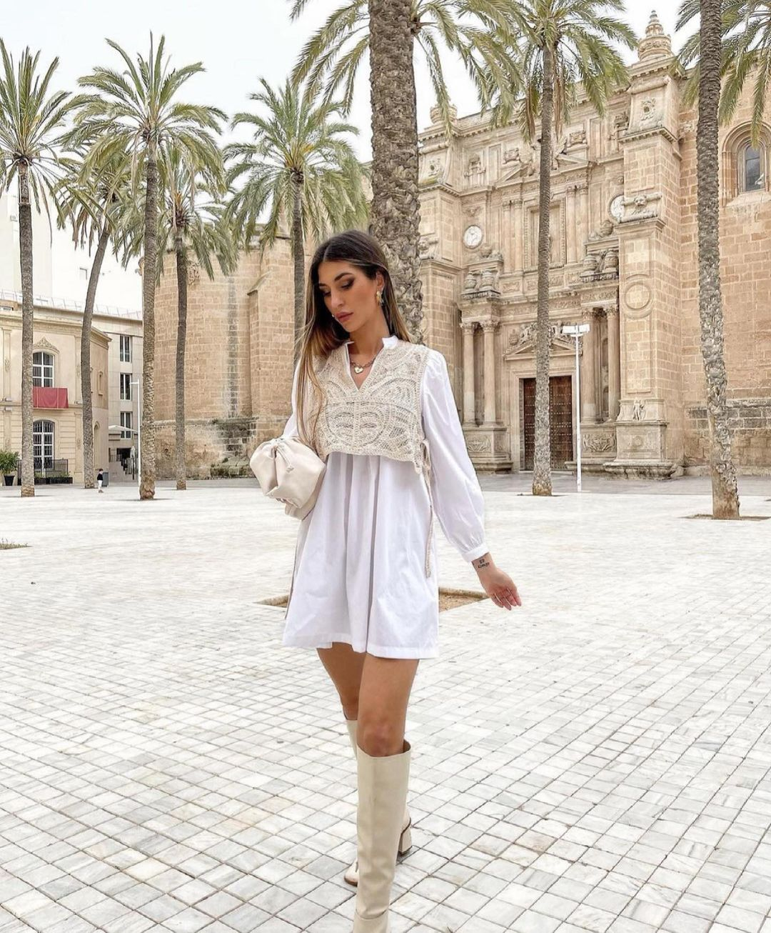robe en popeline en matières assorties de Zara sur zara.outfits