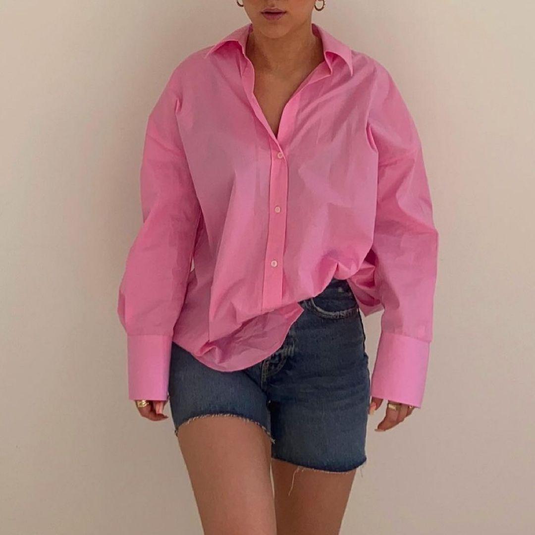 basic linen shirt de Zara sur zara.style.daily