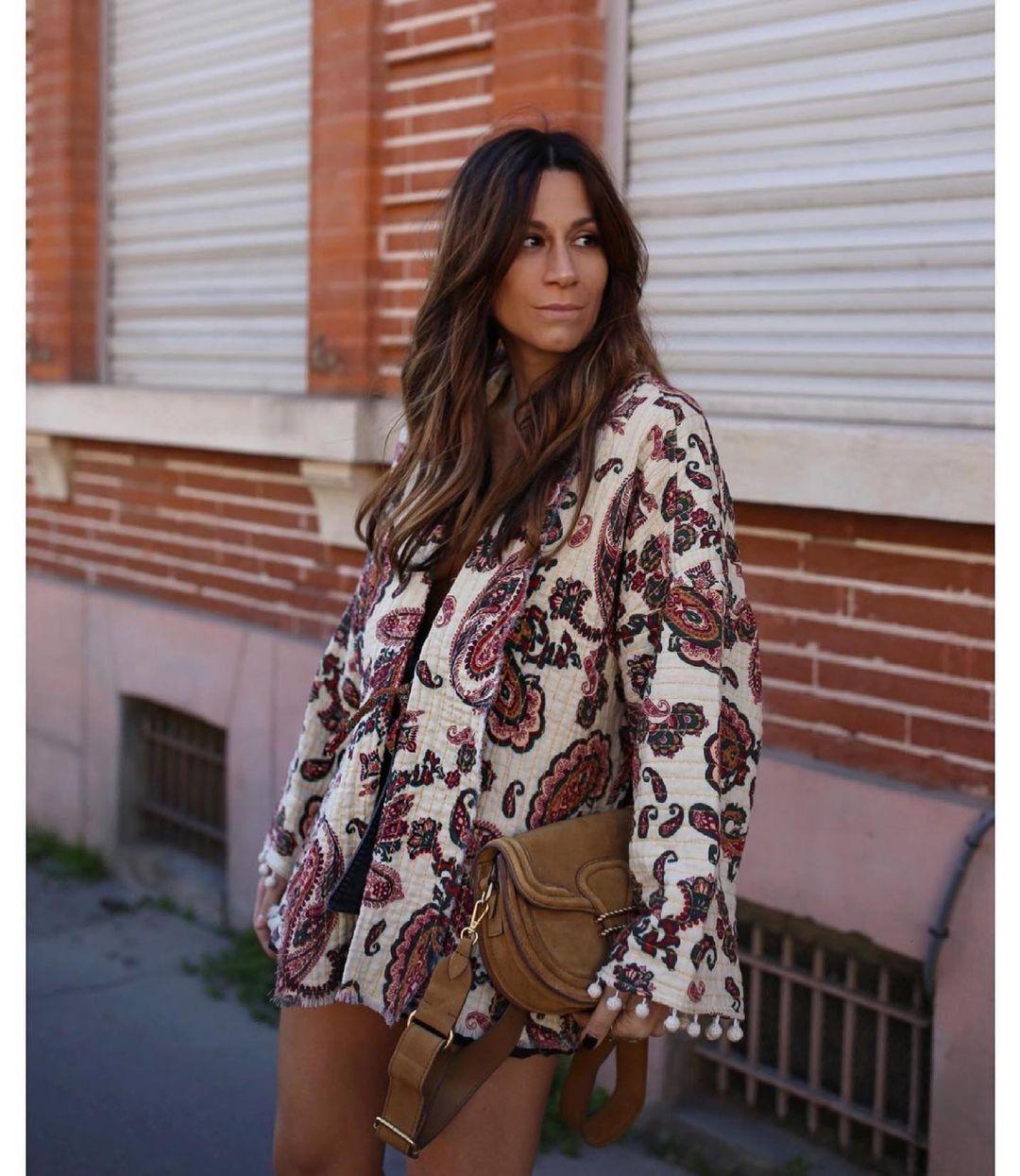 robe en coton paisley de Zara sur zara.outfits