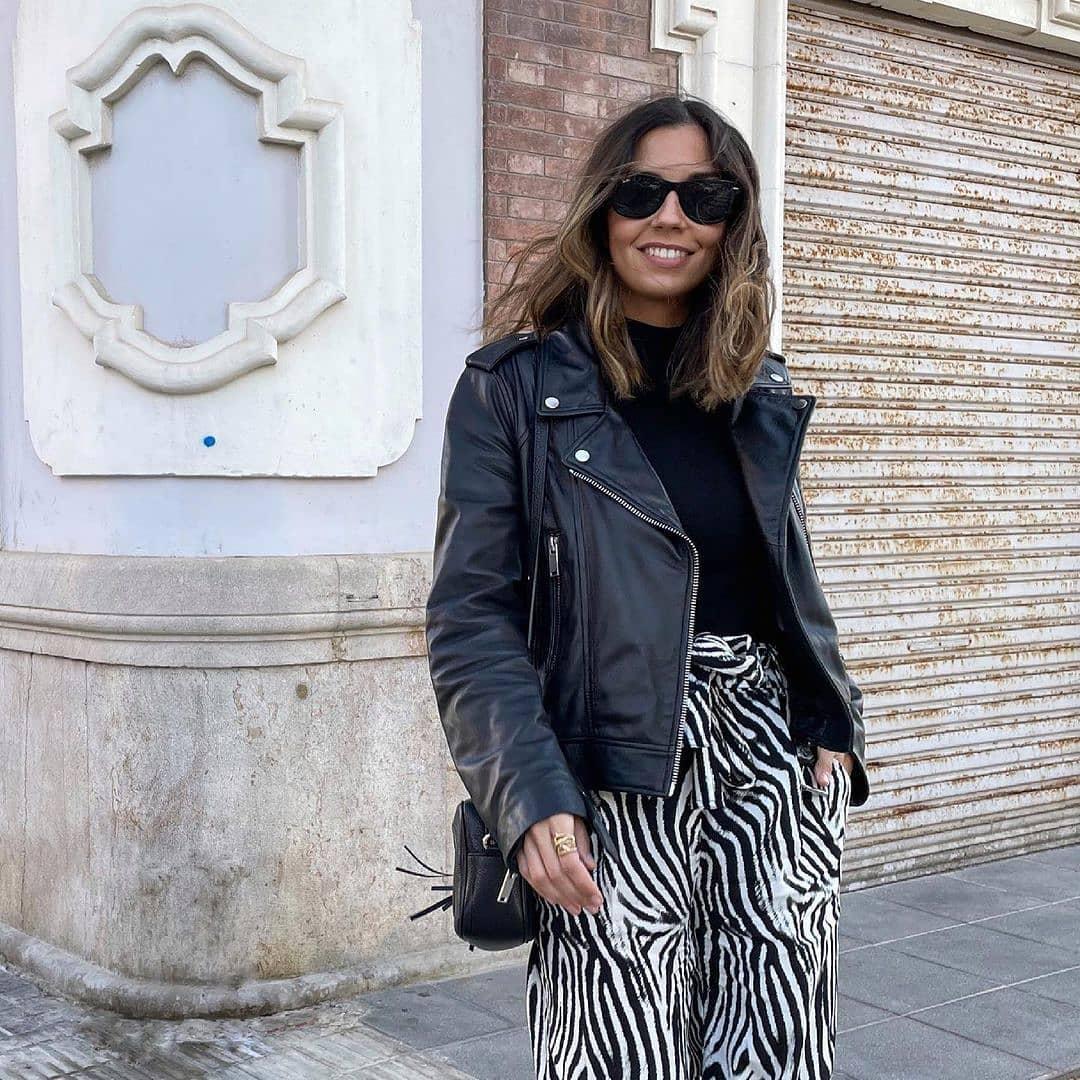trousers zebra de Mango sur mango.outfits