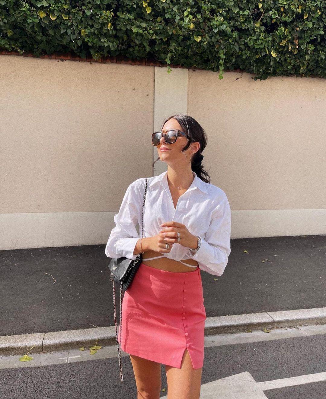 mini jupe à boutons de Zara sur zara.outfits