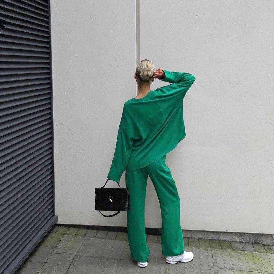 flowing pants de Zara sur zara.style.daily