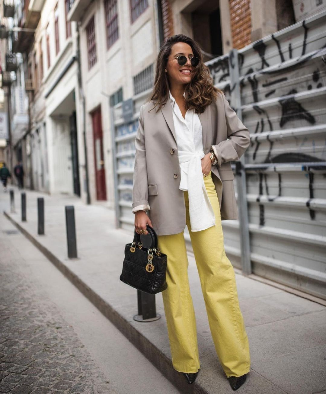 jeans wide leg full length de couleur de Zara sur zara.outfits