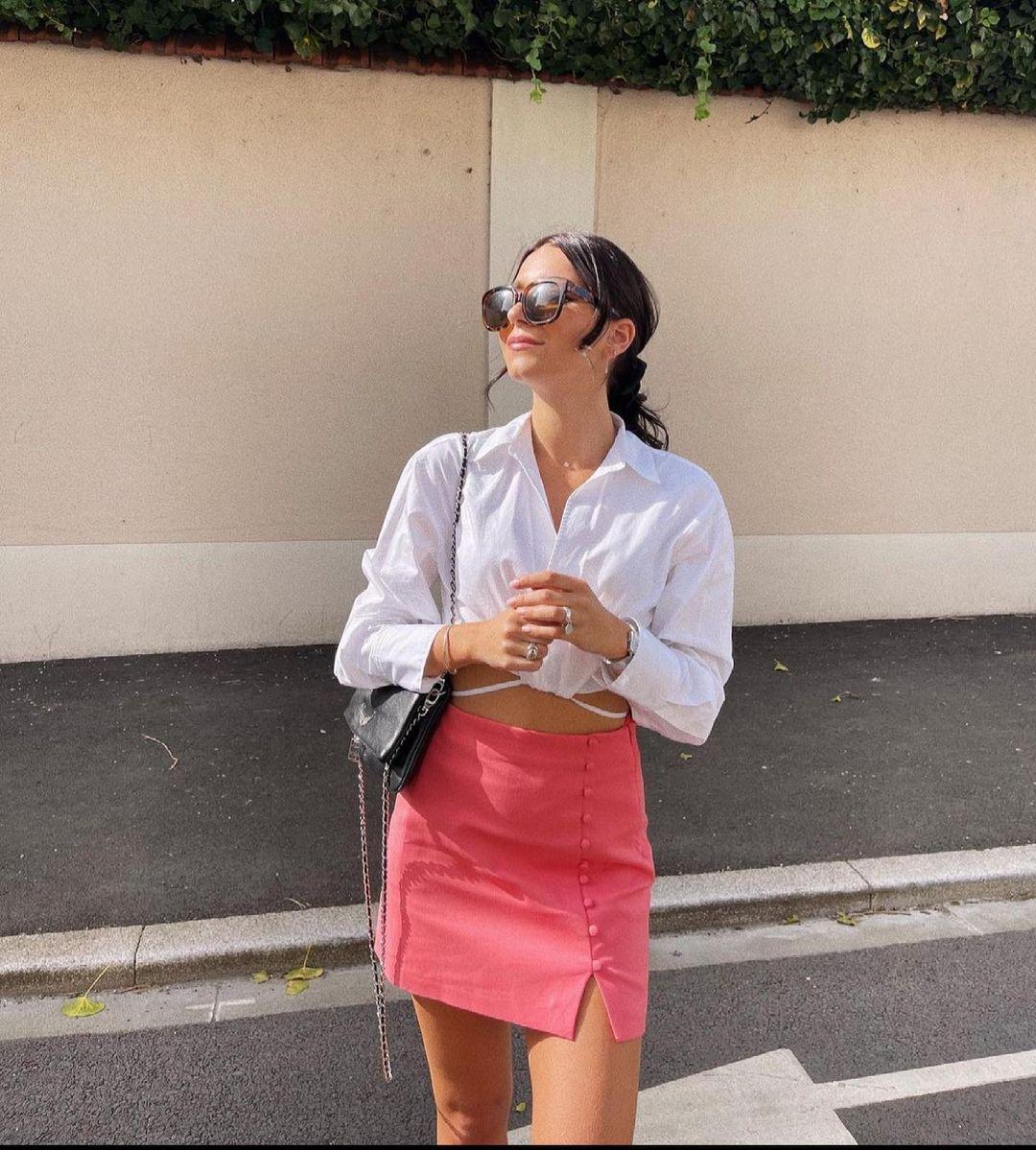 mini skirt with buttons de Zara sur zaraaddiction