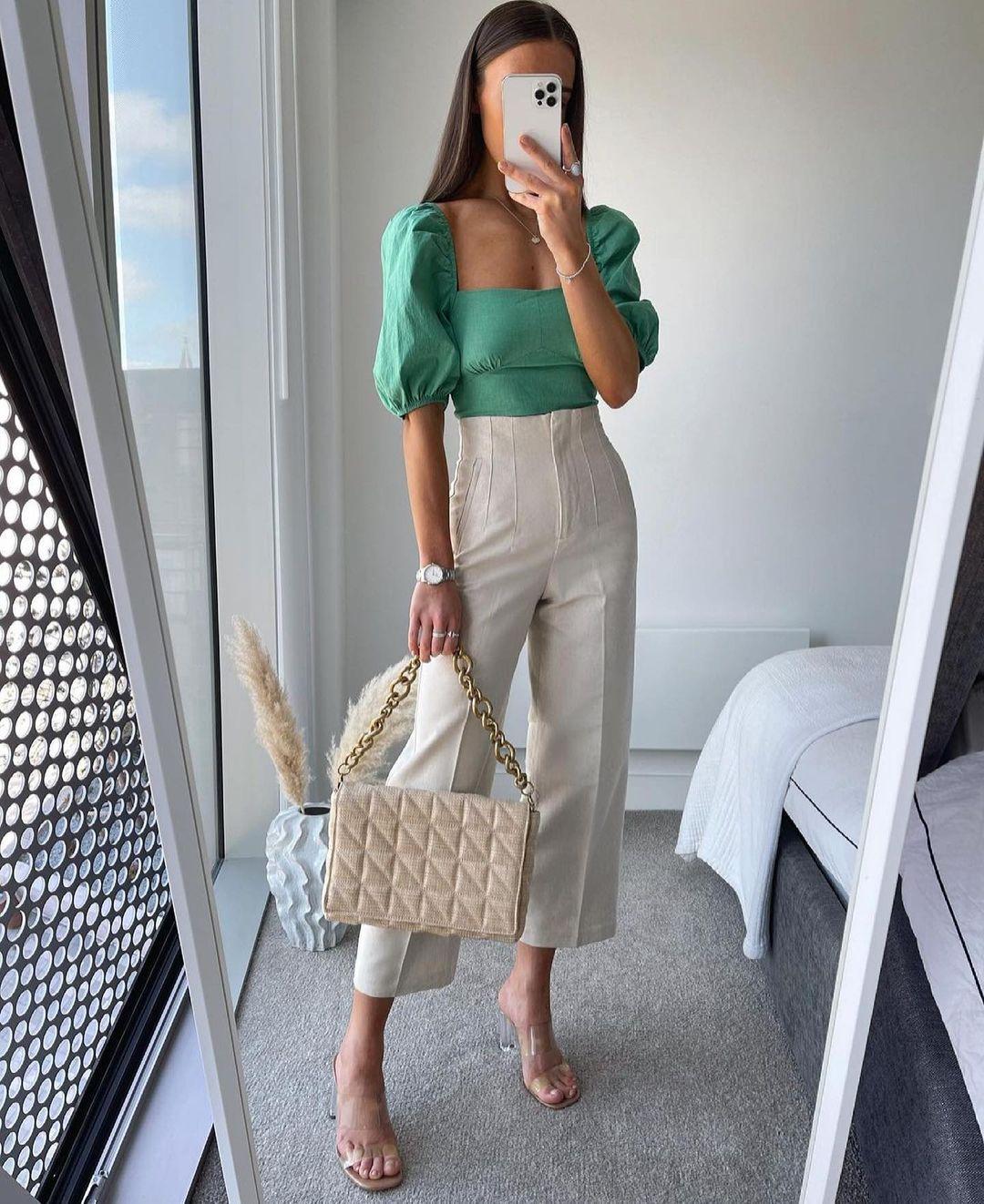 sac porté épaule matelassé avec chaîne de Zara sur zara.outfits