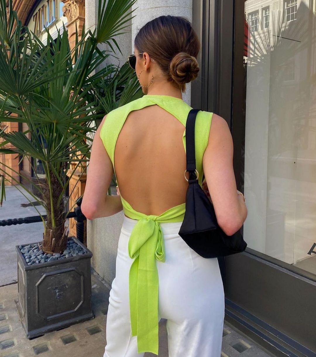 knit top with open back de Zara sur zara.style.daily
