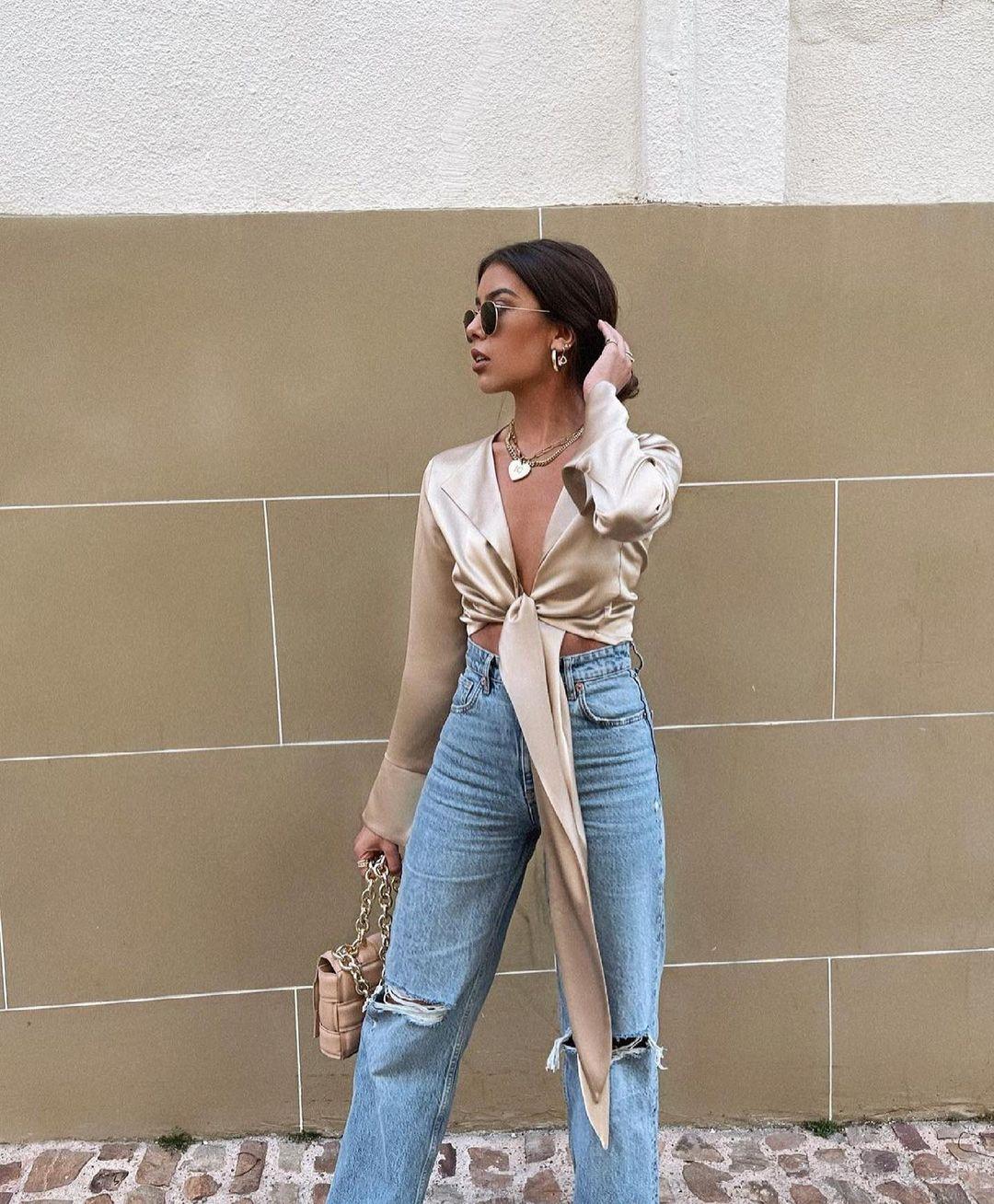 jeans straight full length à déchirures de Zara sur zara.outfits