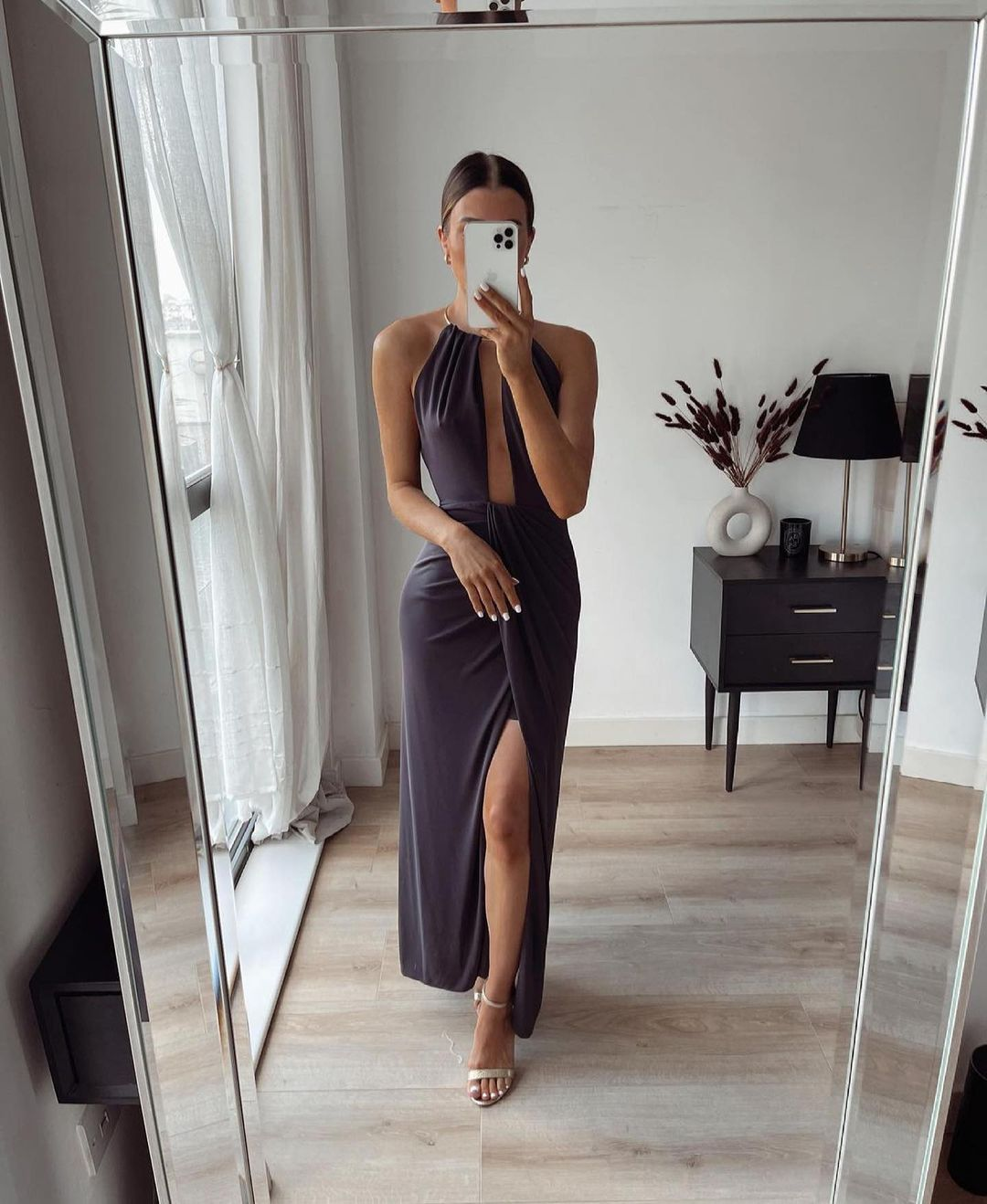 robe longue à col halter limited edition de Zara sur zara.outfits