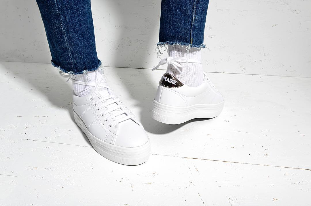 plato sneaker w/b no name de Les Bourgeoises sur nonameshoes