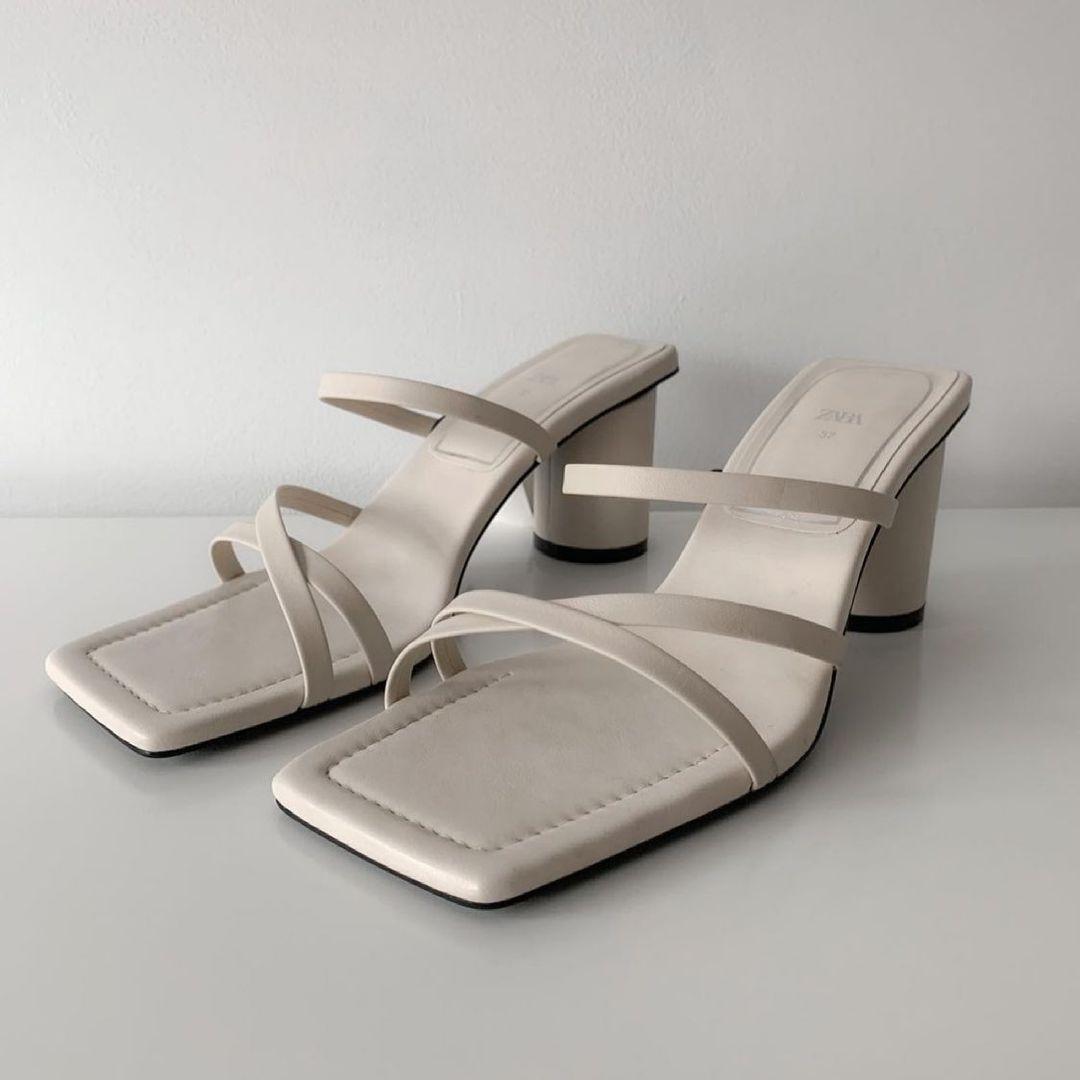 square toe leather heel sandals de Zara sur zara.style.daily