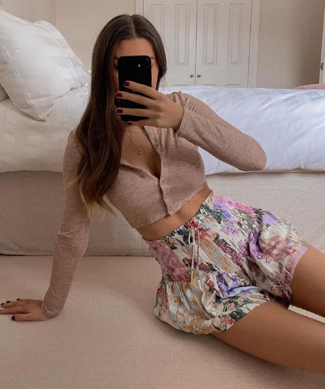 shorts imprimé de Zara sur zara.outfits