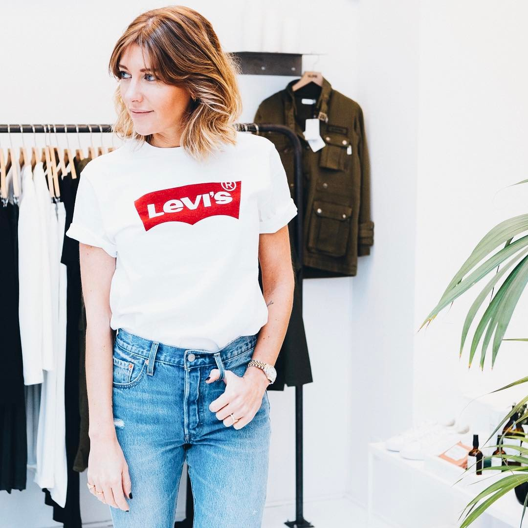 white levis t-shirt de Les Bourgeoises sur cyrielleforkure