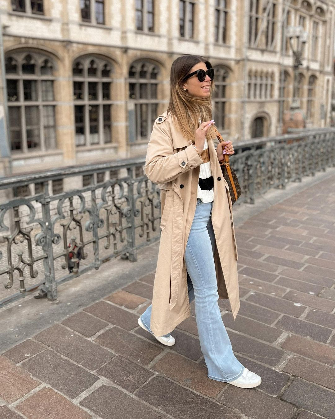 trench coat angela-i de Mango sur nooomsworld