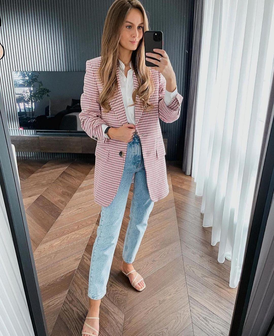 veste pied-de-poule de Zara sur zara.outfits