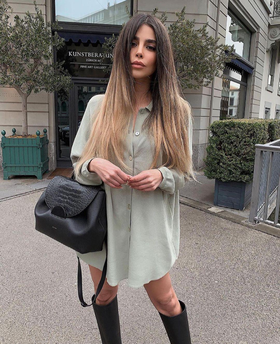 robe courte à empiècements de Zara sur zara.outfits