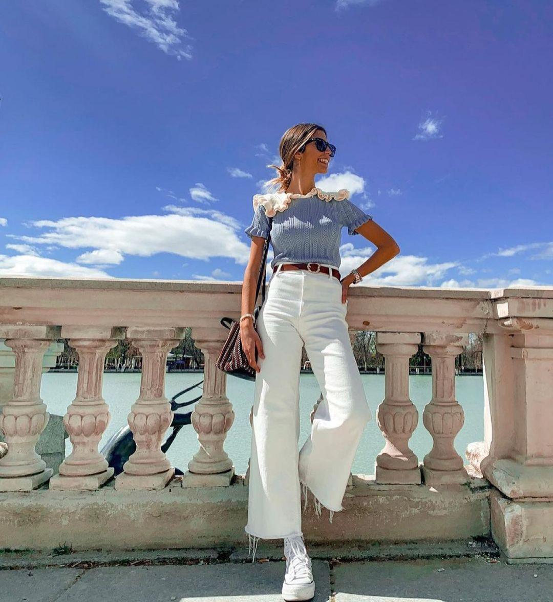 jeans z1975 high rise mini flare de Zara sur zara.outfits