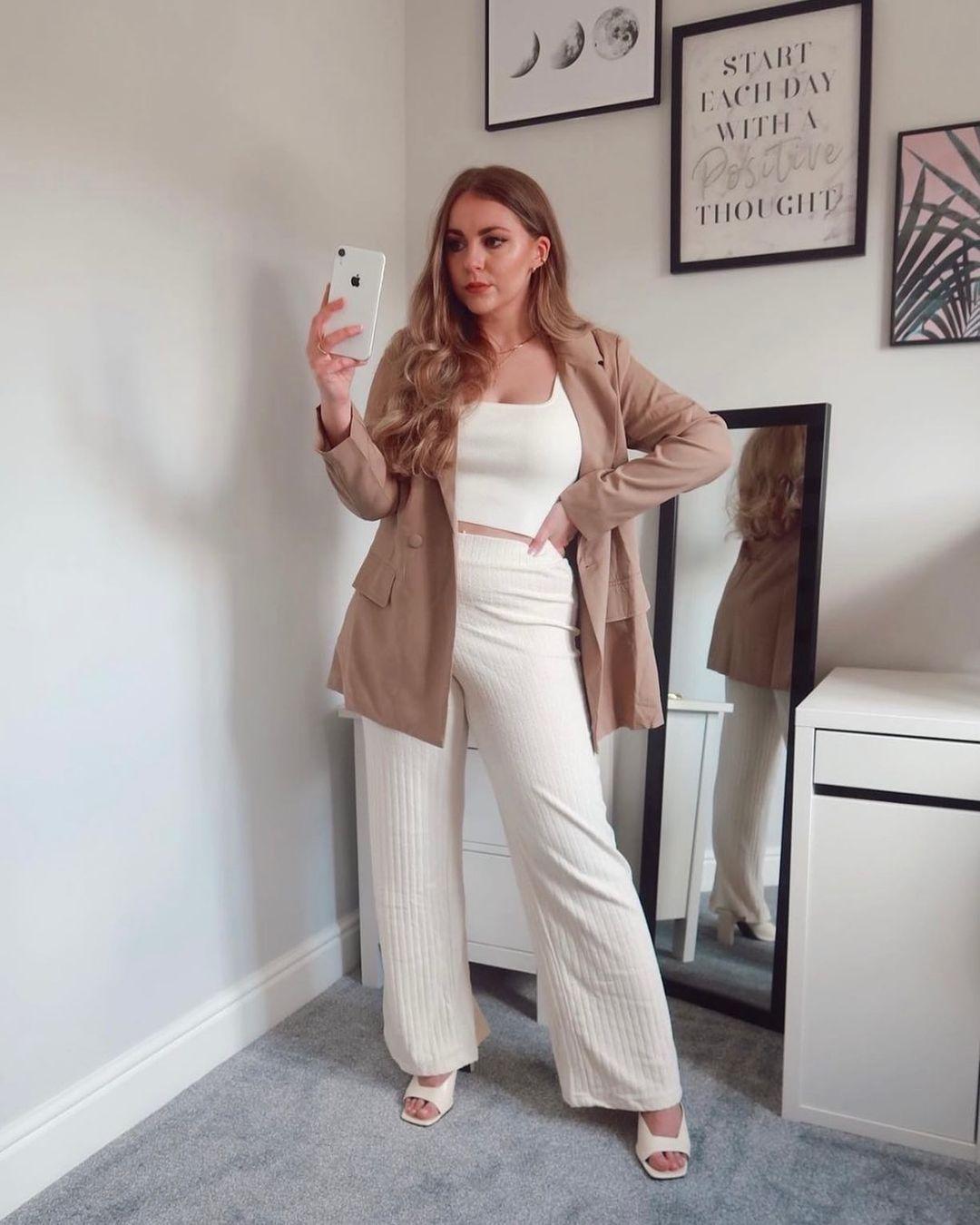 pantalon en maille côtelée de H&M sur hm.addicted