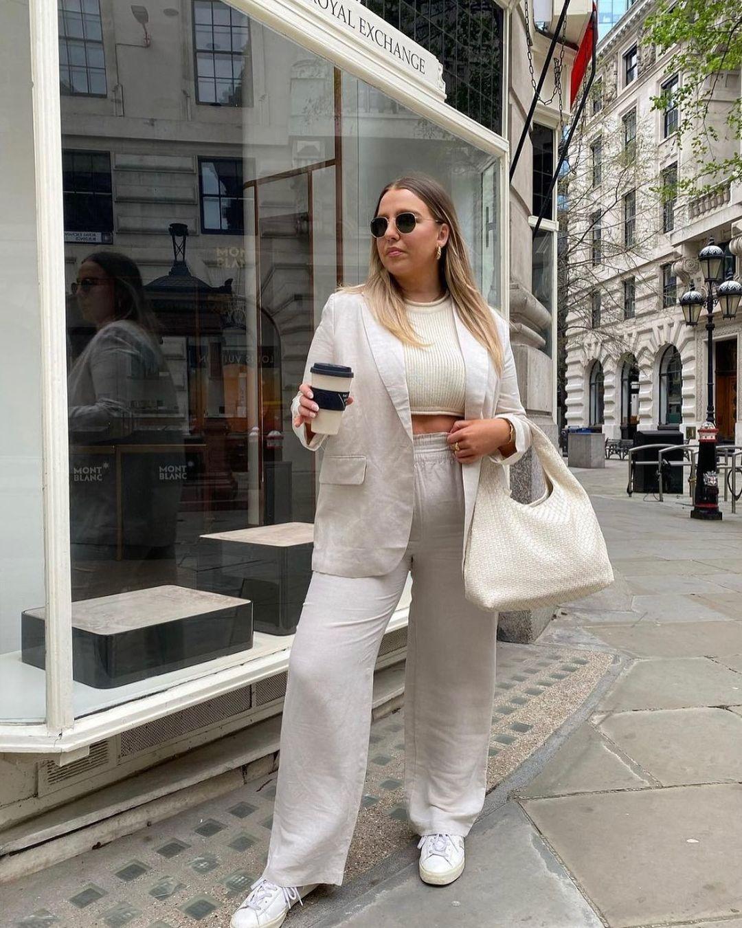 oversized linen-blend jacket de H&M sur hm.addicted