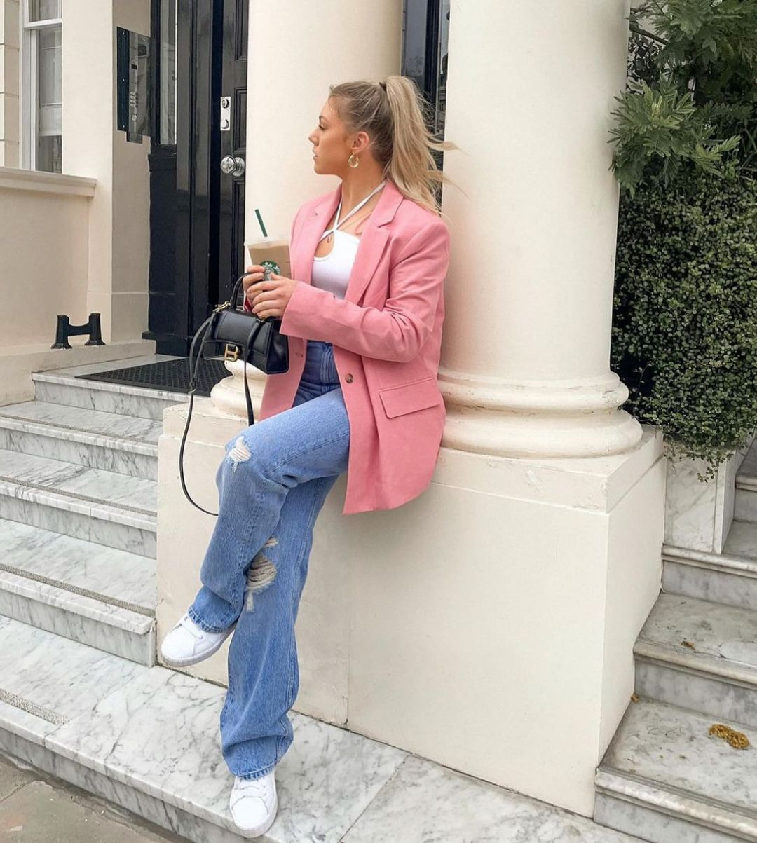 straight blazer with linen limited edition de Zara sur zara.style.daily