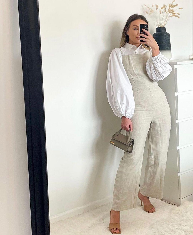 linen jumpsuit de H&M sur hm.addicted