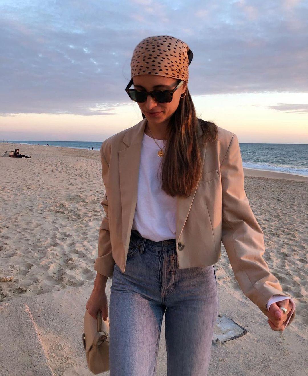 crop blazer with linen de Zara sur zarastreetstyle