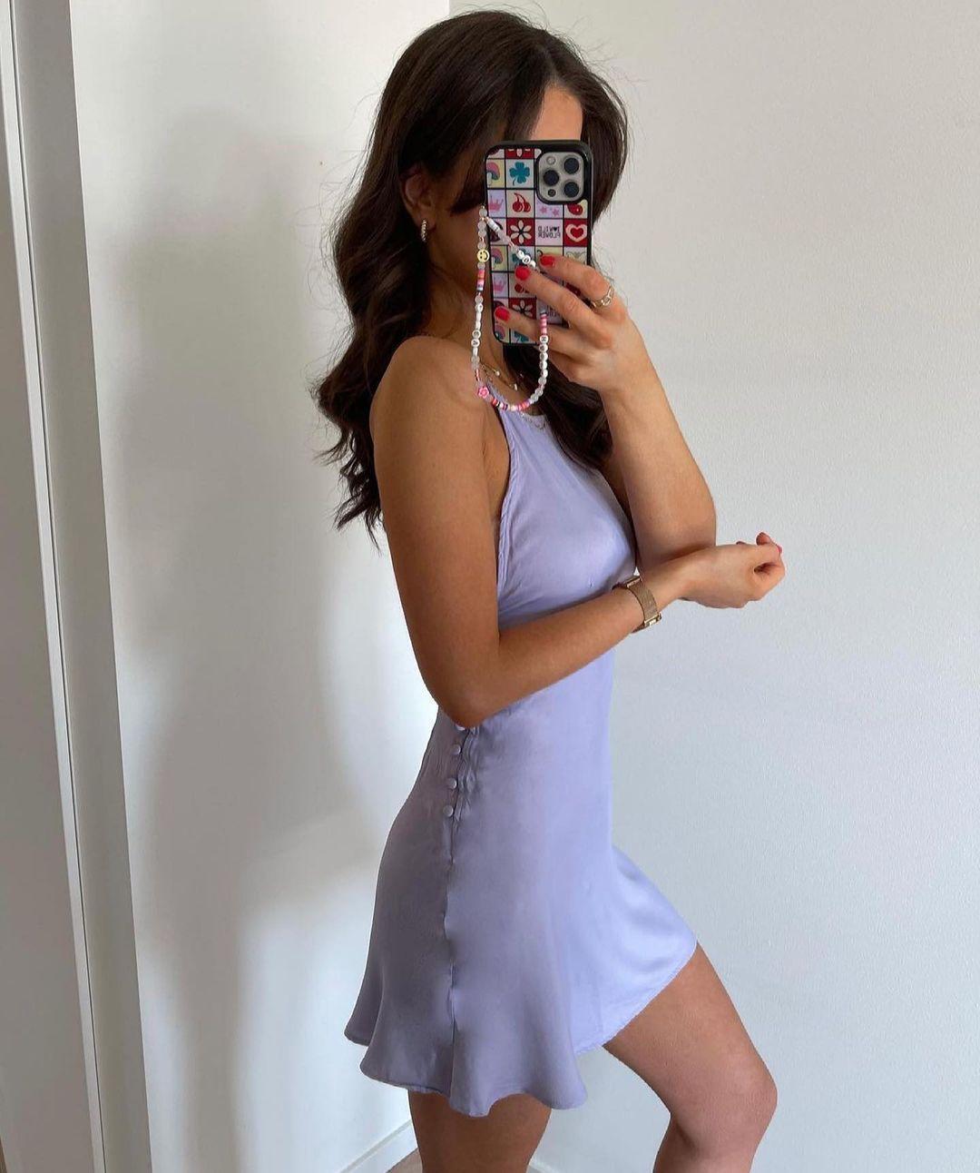 robe courte style lingerie de Zara sur zara.outfits