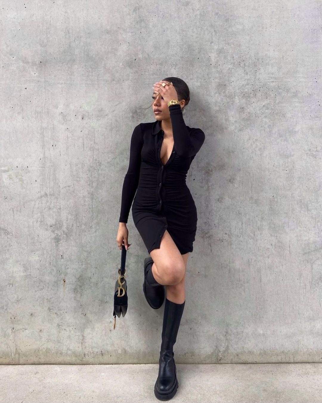 robe drapée de H&M sur hm.addicted