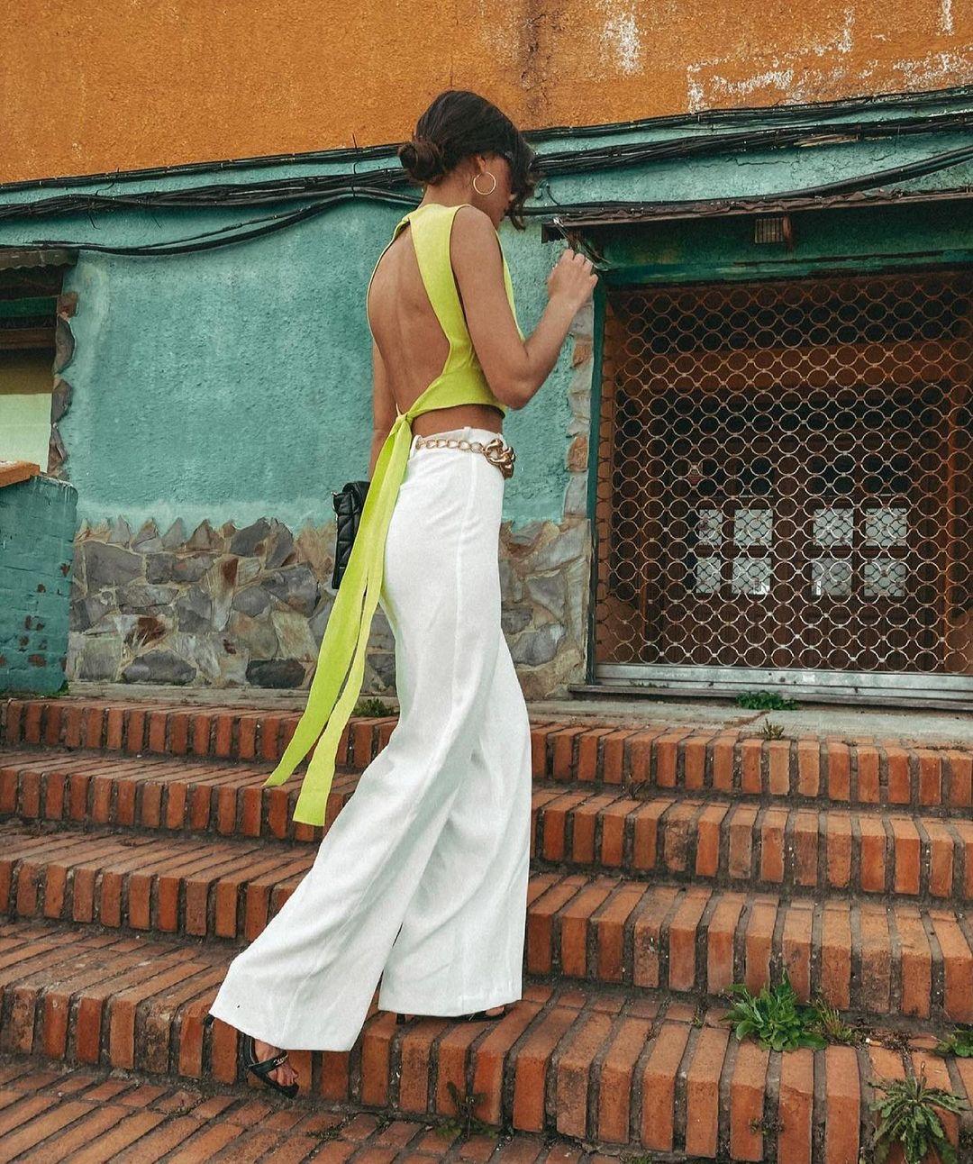 top en maille avec dos ouvert de Zara sur zara.outfits