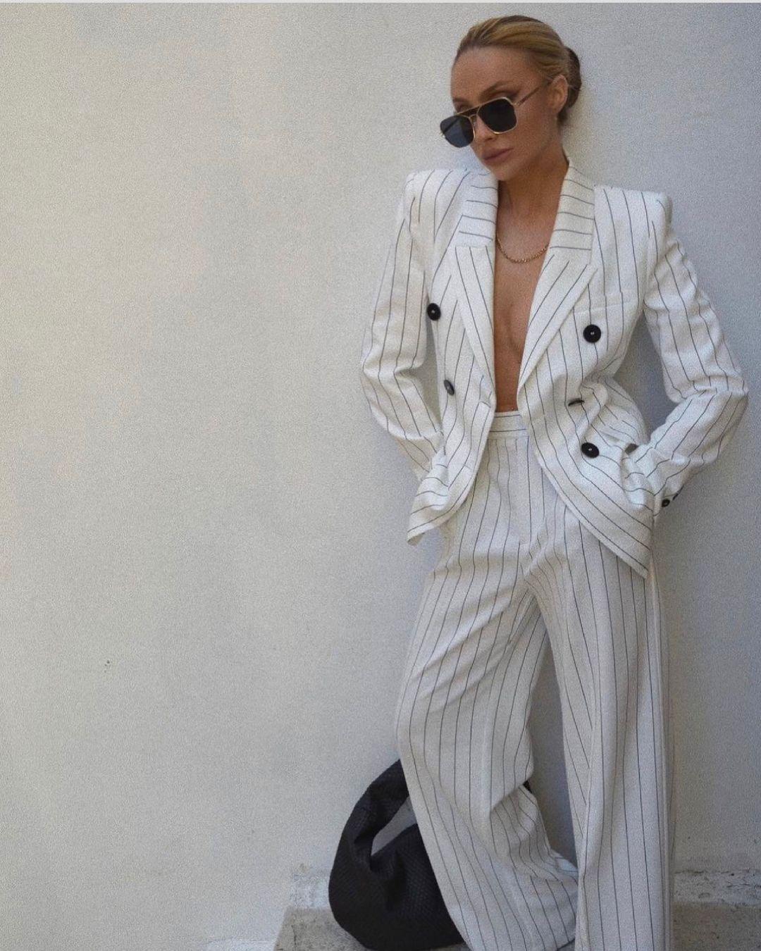 striped cross breasted jacket de Zara sur zara.style.daily