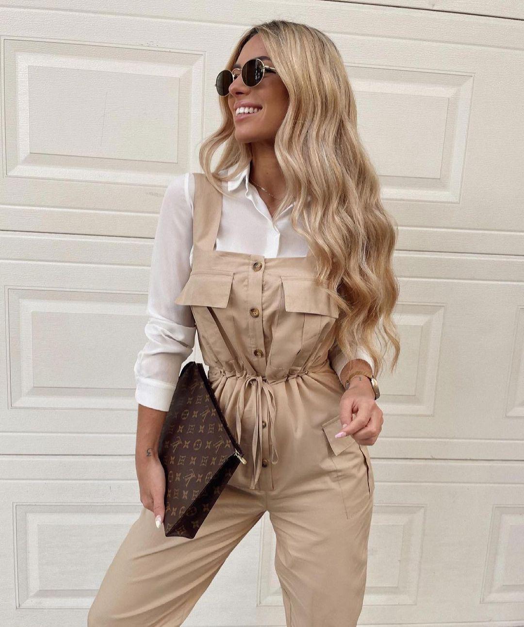 combinaison cargo en popeline de Zara sur zara.outfits