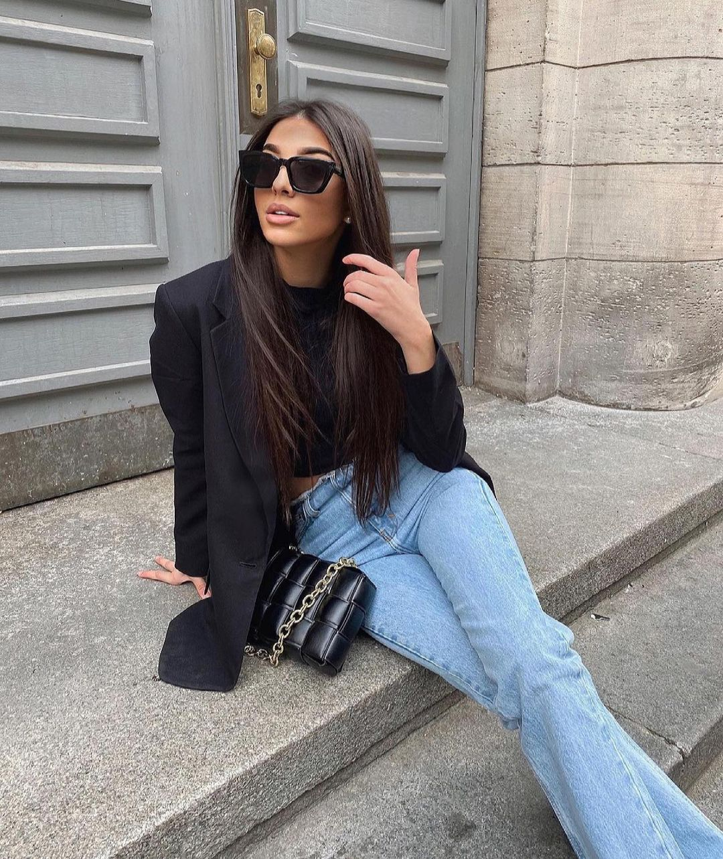 jeans z1975 high rise slim flare à fentes de Zara sur zara.outfits
