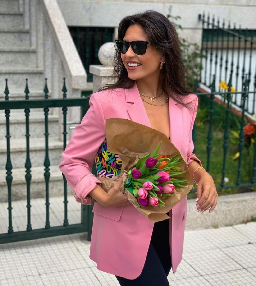 straight blazer with linen limited edition de Zara sur zaradiccion__