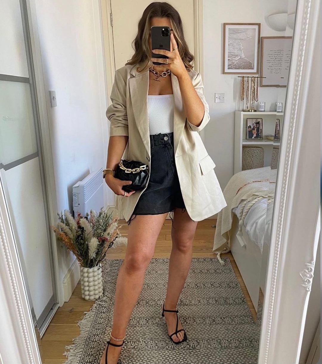 high waist denim shorts de H&M sur hm.addicted
